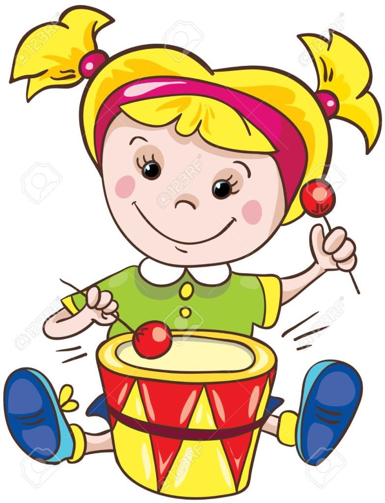 18862166-Illustrazione-Cartoon-bambina-su-sfondo-bianco-Archivio-Fotografico