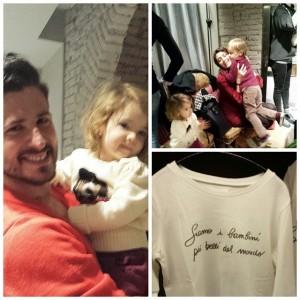 Milano evento Dou Dou kids with Casare Morisco and Mimina by Diavolo Veste Baby