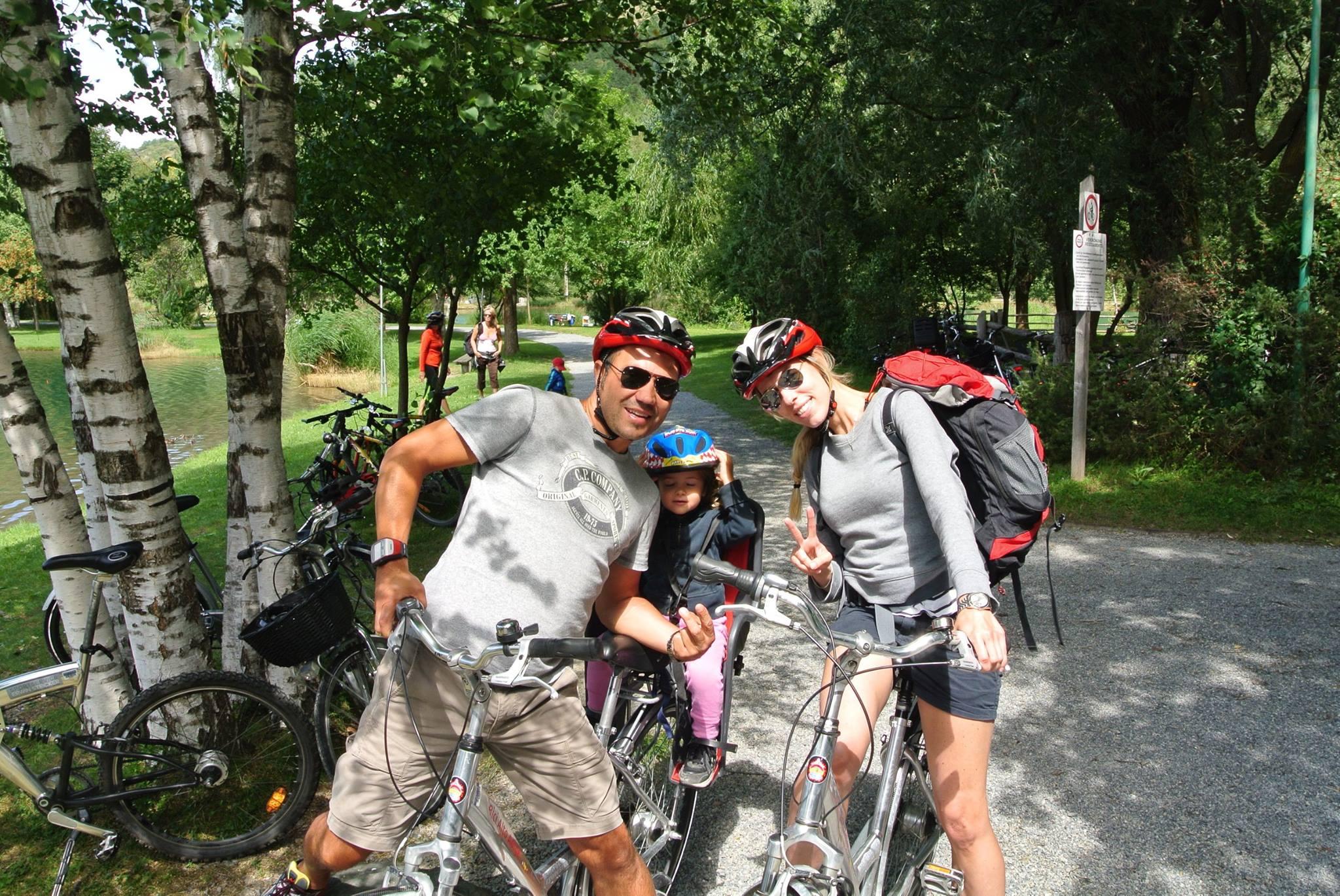 Io, lui , lei, una bicicletta e i nostri 60 km fatti !