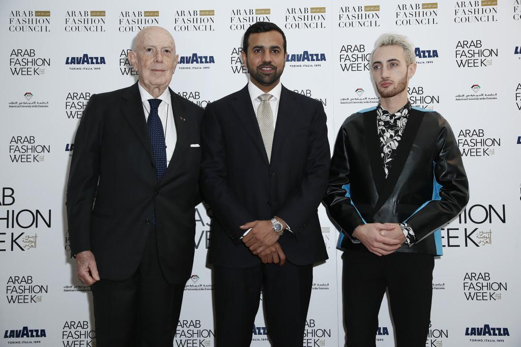 ArabFashion_Press Conference_Cav. Lavoro Mario Boselli_Consul Abdalla Alshamsi_Jacob Abrian (2)